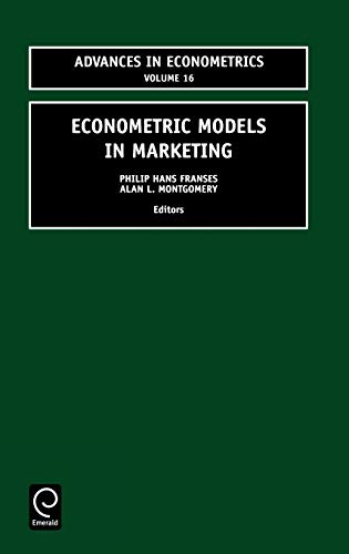 9780762308576: Econometric Models in Marketing (Advances in Econometrics) (Advances in Econometrics)