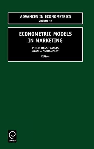 9780762308576: Econometric Models in Marketing (Advances in Econometrics)