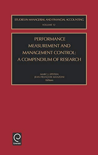 Performance Measurement and Management Control, Volume 12: EPSTEIN