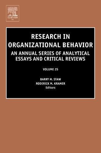 9780762310548: Research in Organizational Behavior, Volume 25 (Research in Organizational Behavior)