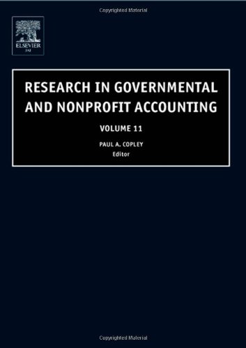 9780762311231: Research in Governmental and Nonprofit Accounting, Volume 11 (Research in Governmental and Nonprofit Accounting)