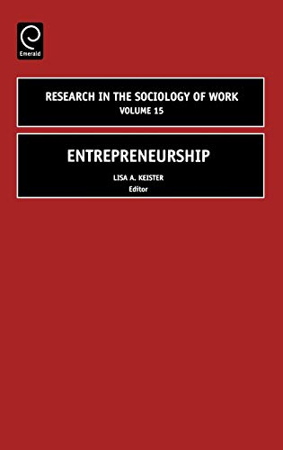9780762311910: Entrepreneurship (Research in the Sociology of Work) (Research in the Sociology of Work)