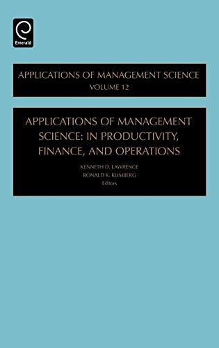 Applications of Management Science: Ronald Klimberg