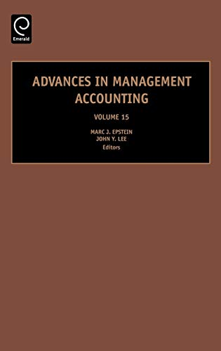 9780762313525: Advances in Management Accounting