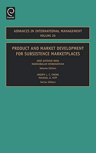 9780762313969: Product and Market Development For Subsistence Marketplaces (Advances in International Management)