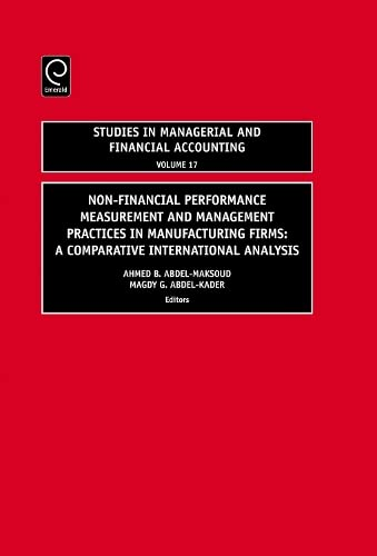 9780762314034: Non-Financial Performance Measurement and Management Practices in Manufacturing Firms: A Comparative International Analysis