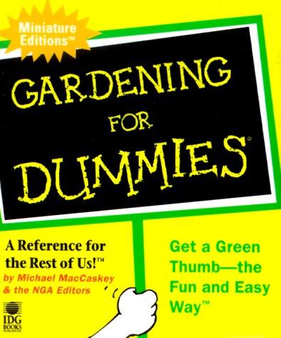 9780762406340: Gardening For Dummies (Dummies Minis)