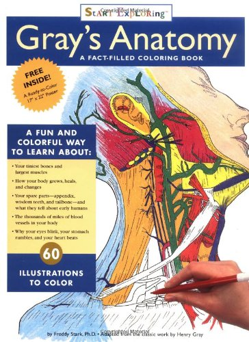 9780762409440: Gray's Anatomy Coloring Book: A Fact-Filled Coloring Book