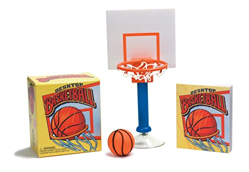 Desktop Basketball 9780762444205 You don't have to be 6'7  and a world-class athlete to master this one-of-a-kind version of basketball. This is a game that anyone can play when tedium sets in at the office. Kit includes a 32-page rule book on Desktop Basketball to get you started, a miniature basketball, and an easy-to-assemble basketball hoop, post, suction-cup base, and backboard.