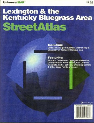 9780762504152: Lexington & Kentucky Bluegrass Area Streetatlas: Including Lexington Business District & University of Kentucky
