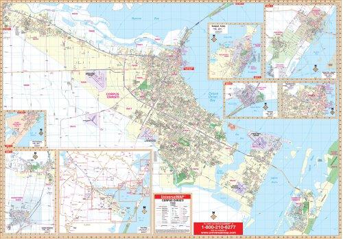 9780762518449: Corpus Christi, TX (City Wall Maps)
