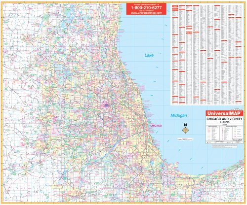 9780762527397: Chicago, Il 50 Mile (City Wall Maps)