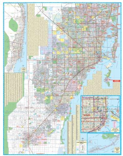 9780762538218: 2010 Miami Dade County, FL (City Wall Maps)