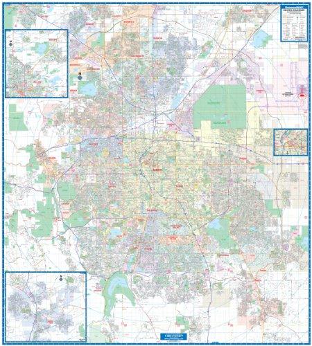 9780762538621: Denver, Co Vicinity (City Wall Maps)