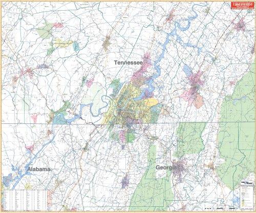 9780762538638: Chattanooga, TN Vicinity (City Wall Maps)