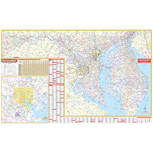 9780762541973: Maryland/Delaware (State Wall Maps)