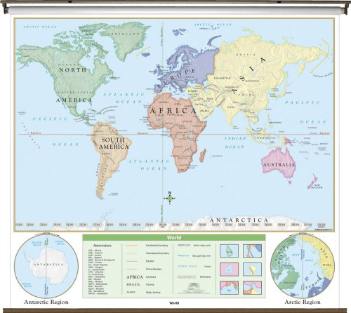 9780762542093: World Beginner Wall Map Roller (Beginner Classroom Wall Maps)