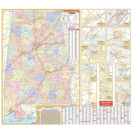 9780762543007: Alabama (State Wall Maps)