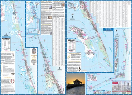 9780762543915: Outer Banks, NC (City Wall Maps)