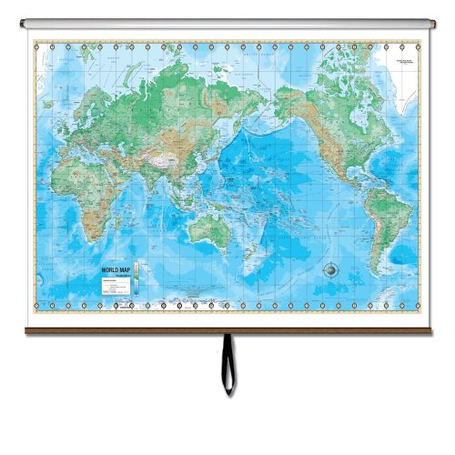 9780762543991: World Advanced Physical Wall Map Roller (Advanced Physical Classroom Wall Maps)