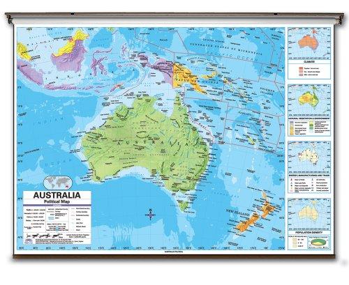 9780762545735: Australia Advanced Political Wall Map W/Backboard (Advanced Political Classroom Wall Maps)