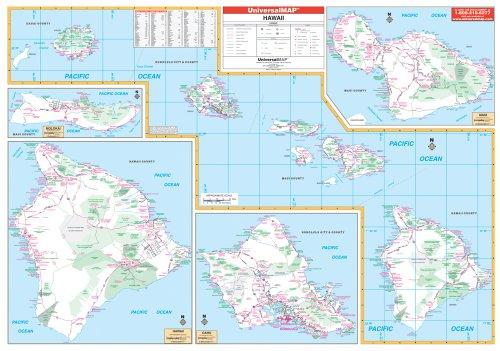 9780762548576: Hawaii Wall Map - 57x40 - Laminated on Roller