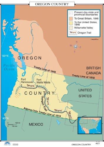 9780762549542: Oregon Country (U.S. History Wall Maps)