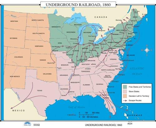 9780762549672: Underground Railroad (U.S. History Wall Maps)
