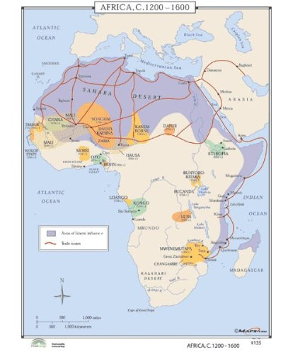 9780762550340: Africa, 1200-1600 (World History Wall Maps ...