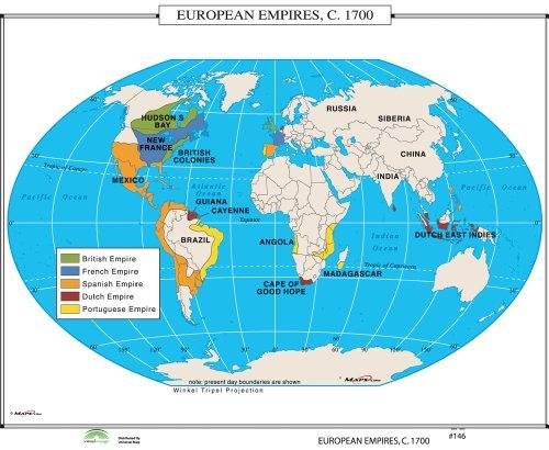 9780762550449: European Empires, 1700 (World History Wall Maps)