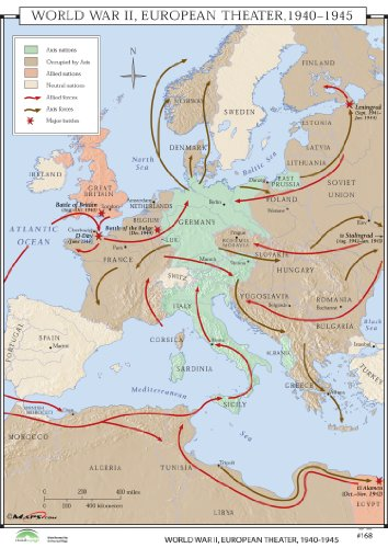 9780762550661: WWII Europe Theatre (World History Wall Maps)