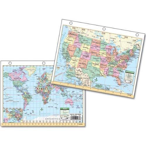 US/World Notebook Map: Universal Map