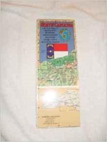 9780762570638: North Carolina Laminated Map