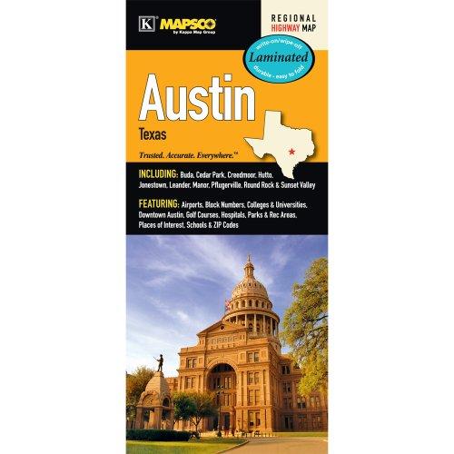 9780762574643: Austin, TX Laminated Map