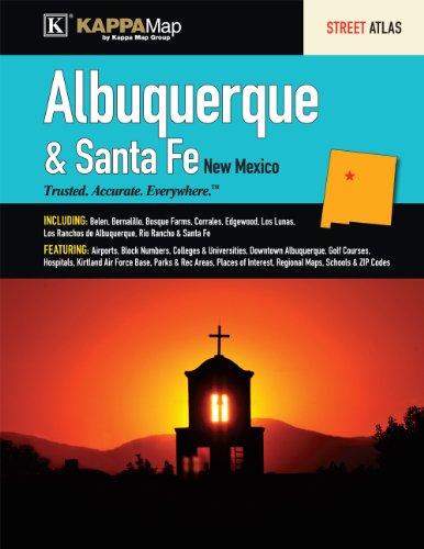 Albuquerque & Santa Fe, NM Street Atlas: Kappa Map Group