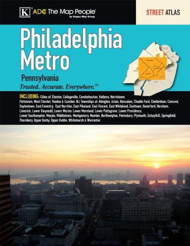 9780762581382: Philadelphia, PA Metro Street Atlas
