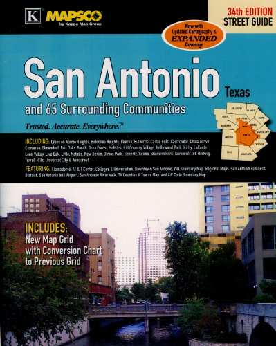 9780762583058: MAPSCO San Antonio and 65 Surrounding Communities Street Atlas