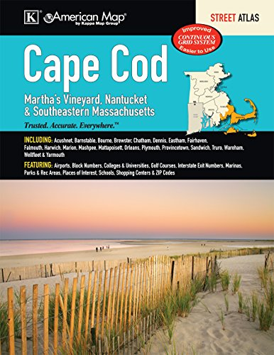 9780762584987: Cape Cod, Martha s Vineyard, Nantucket & Southeastern Massachusetts Street Atlas