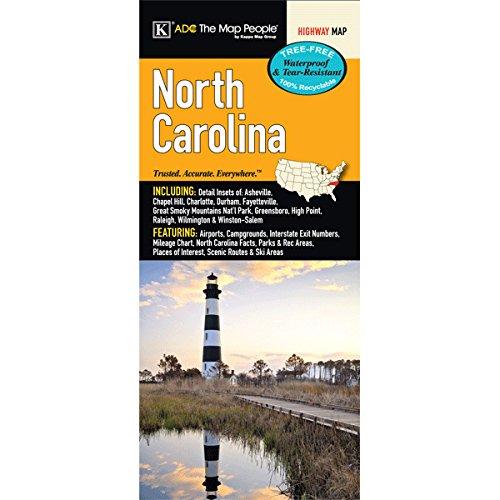 9780762585755: North Carolina State Waterproof Map