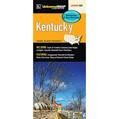 9780762585892: Kentucky State Waterproof Map