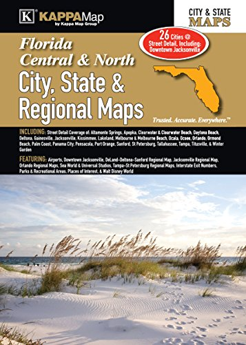 9780762586400: Central & North Florida City, State & Regional Maps