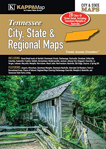 9780762588282: Tennessee City, State, & Regional Maps