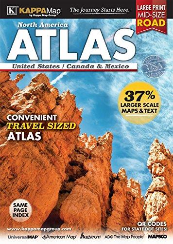 9780762588411: 2016 North America Mid-Size Large Print Road Atlas