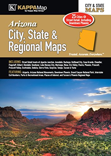9780762588886: Arizona City, State, & Regional Maps