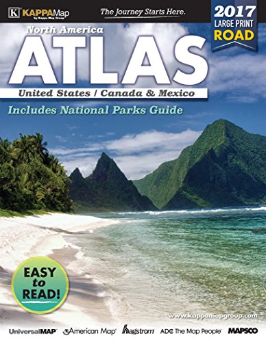 9780762589715: 2017 North America Large Print Road Atlas