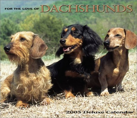 9780763150648: For the Love of Dachshunds 2003 Calendar