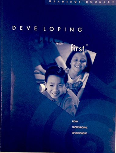 9780763556235: Developing Literacy First (Rigy Professional Development)