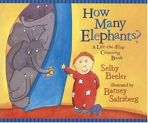 9780763615833: How Many Elephants?: A Lift-the-Flap Counting Book