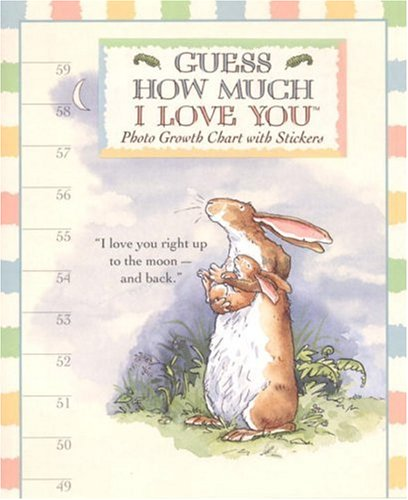 9780763619107: Guess How Much I Love You: Photo Growth Chart With Stickers