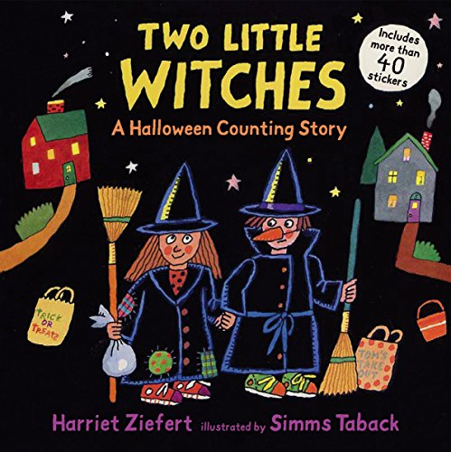 9780763633097: Two Little Witches: A Halloween Counting Story Sticker Book
